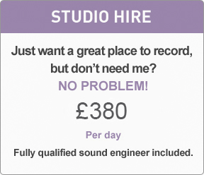 London Studio Hire Day Rate